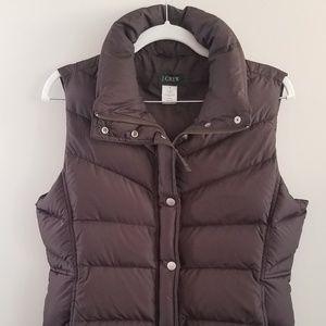 J. CREW Brown Puffer Vest Down Women's Medium for sale